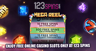 Enjoy Free Online Casino Slots Only at 123 Spins